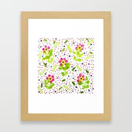 Fruits and vegetables pattern (15) Framed Art Print