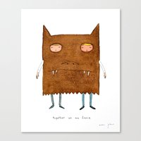 together we are fierce Canvas Print