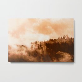 Clear away the fog to see the light. Sepia Metal Print