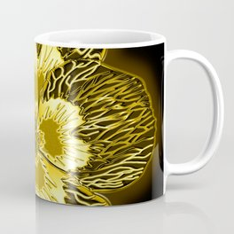 """Gold"" Pansy Flower Special Edition 1 (Black Back) Coffee Mug"