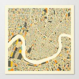 New Orleans Map Leinwanddruck