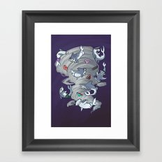 Sharkbuttnado Framed Art Print