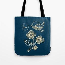 be in blue print Tote Bag