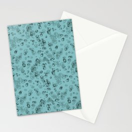 Arabidopsis protoplast cells microscopy pattern teal Stationery Cards