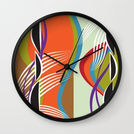 Shapley Waves Wall Clock