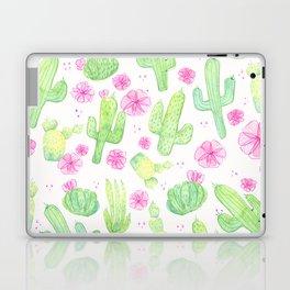 Wild Rose Cactus - Green & Pink Laptop & iPad Skin