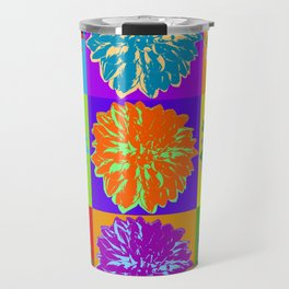 Poster with cornflower in pop art style Travel Mug