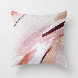 Away [2]: an abstract mixed media piece in pinks and reds Throw Pillow