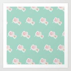 Dope Floral Teal Art Print