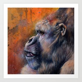 Gorilla: The Portrait of a Stolen Voice Art Print