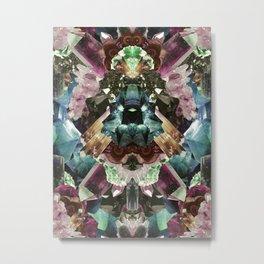 Crystal Collage Metal Print