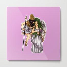 Athena and Medusa Metal Print