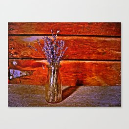 Milk Bottle Vase Canvas Print