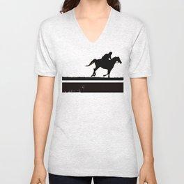 The rider on the white horse  Unisex V-Neck