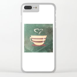 Coffee is love illustration Clear iPhone Case