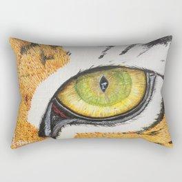 Tiger Dolphin Eye Rectangular Pillow
