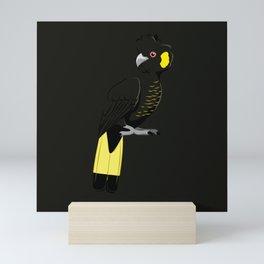 Yellow-tailed black cockatoo Mini Art Print