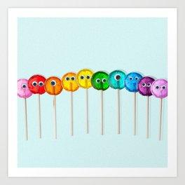 Lollipop Rainbow Art Print