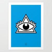 third eye Art Prints featuring Third Eye by Diogo Rueda