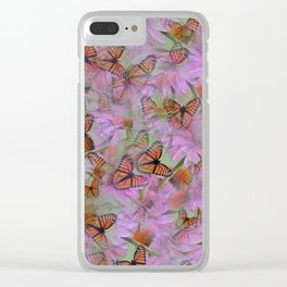 Monarch Mania Clear iPhone Case