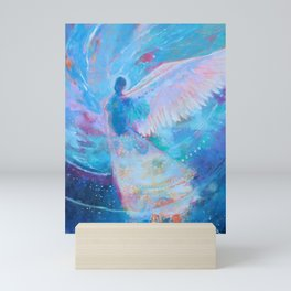 I Remember Flying Dreams Colorful Abstract Angel Painting Mini Art Print