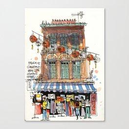 Chinatown Shophouse, Singapore Canvas Print