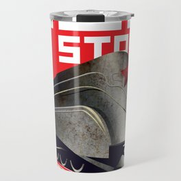 Retro Soviet minimalism space robot  Travel Mug