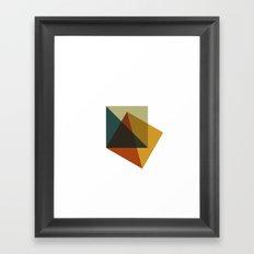 #378 Flag of failure – Geometry Daily Framed Art Print