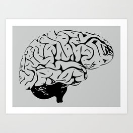 Braaains Art Print