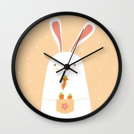 I promise nicely eat carrots. Wall Clock