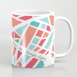 Paris Minimal Map Coffee Mug