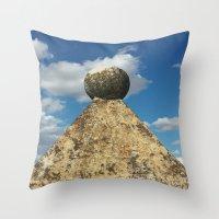 spain Throw Pillows featuring Segovia, Spain by ElenaRuhr
