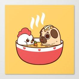 Chicken Noodle Puglie Soup Canvas Print