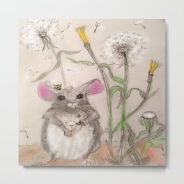 Squeak The Mouse Metal Print