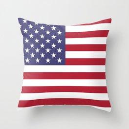 Flag of USA, 10:19 scale prints Throw Pillow