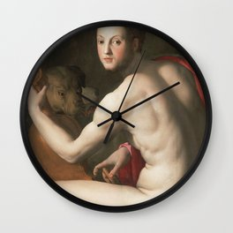 Agnolo Bronzino - Portrait Of Cosimo I De Medici As Orpheus  1537 Wall Clock