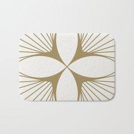 Diamond Series Floral Diamond Gold on White Bath Mat