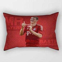 Bastian Schweinsteiger - Mr. Bayern Rectangular Pillow