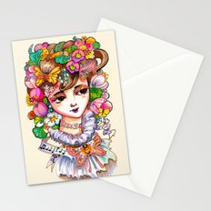 Papillon une Fille Stationery Cards