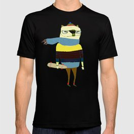 Bear Skateboarder, skateboarding print, skater T-shirt