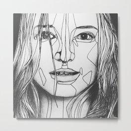 geometric wrinkles Metal Print