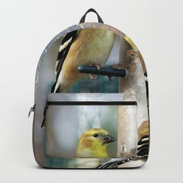 Goldfinches at the Feeder Backpack