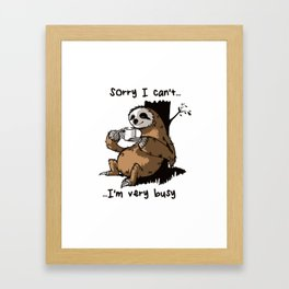 Very busy Framed Art Print