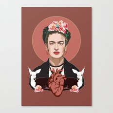 Frida Kahlo (Dark) Canvas Print