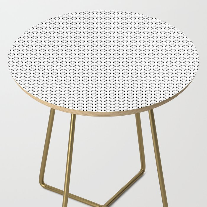 Black and White Basket Weave Shape Pattern - Graphic Design Side Table