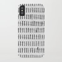 woodstock iPhone & iPod Cases featuring Black Ink Woodstock Pattern on White  by LacyDermy
