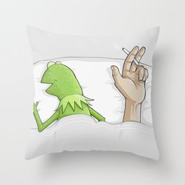 Crazy night Throw Pillow