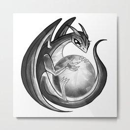 Scrying Dragon Metal Print