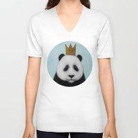 happy birthday V-neck T-shirts featuring happy birthday by Mari-ann Curtis