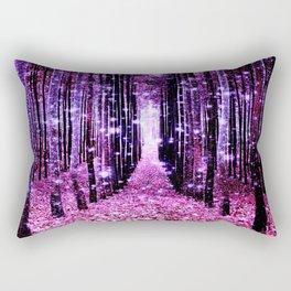 Magical Forest Pink & Purple Rectangular Pillow